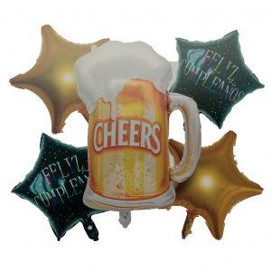 Cerveza; Estrellas Feliz Cumpleaños