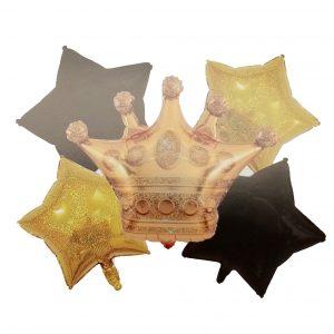 Corona Estrellas Doradas Y Negras