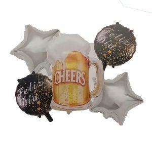 Cerveza; F/C Plateado Y Negro